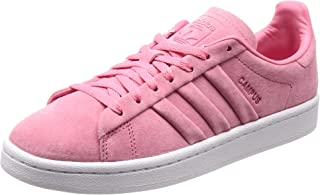 adidas Originals Womens Campus Stitch and Turn Low Rise Suede Trainers - Pink