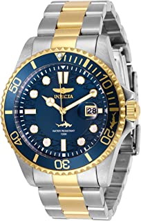 Invicta Men's Pro Diver 43mm Stainless Steel Quartz Watch, Two Tone/Blue (Model: 30021)