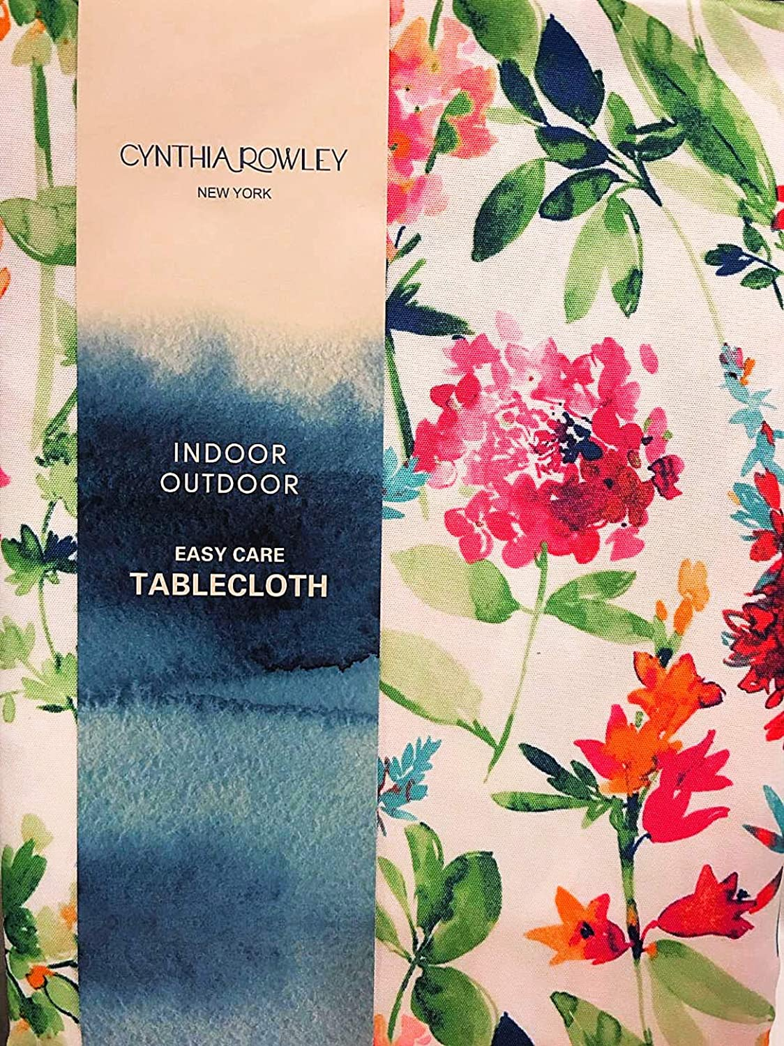 Cynthia Rowley colorful Floral Blooms Indoor   Outdoor Fabric Tablecloths (60 x 104 in Oblong )