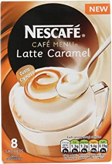 Original Nescafe Gold Caramel Latte Coffee Sachets Imported From The UK England Instant Coffee Finely Beans With Milk Sugar British Frothy Coffee Nescafe Café Menu Latte Caramel, 136 g