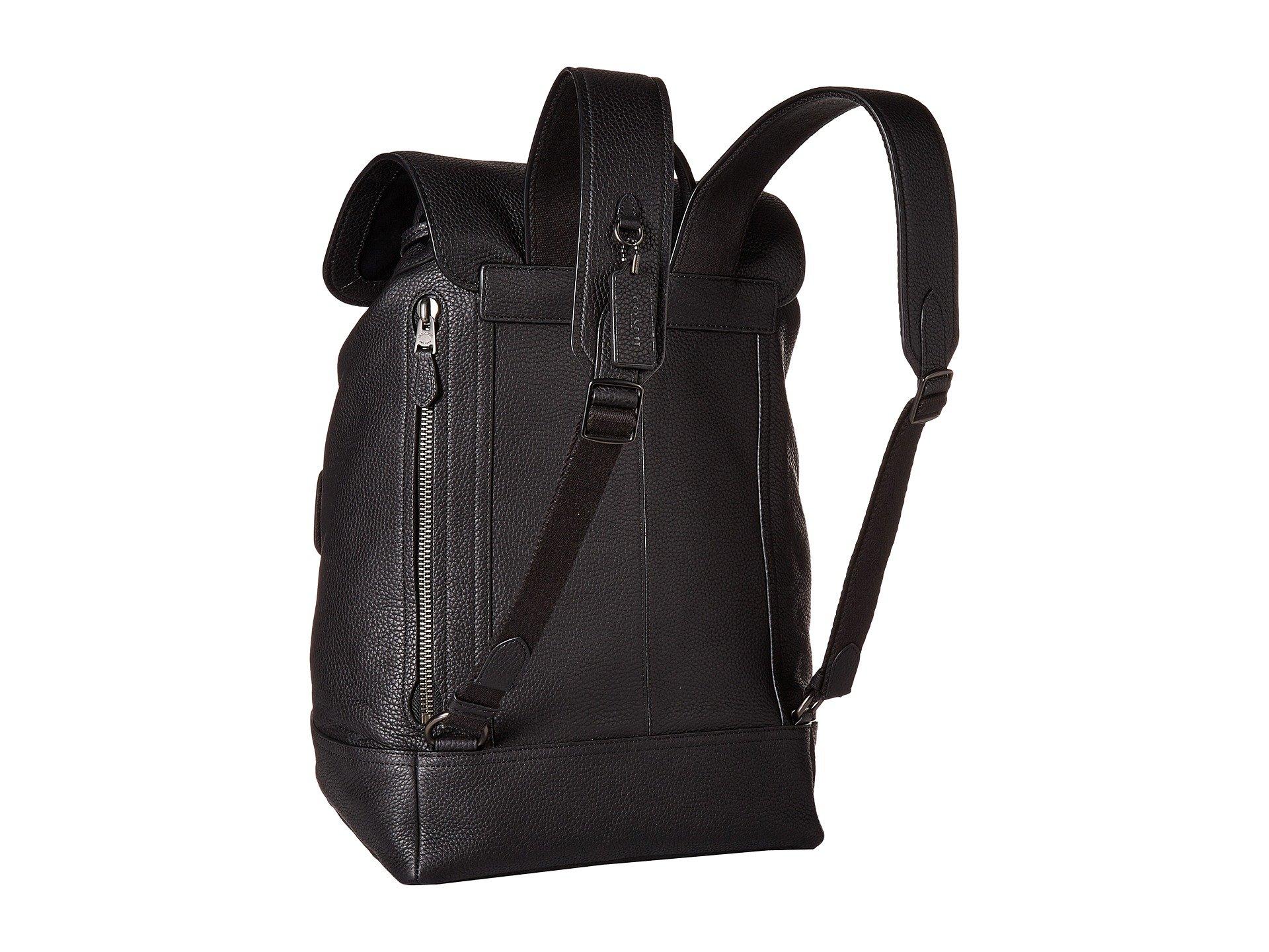 In Bleecker Ji Backpack black Pebbled Leather Coach xwH4Uq4