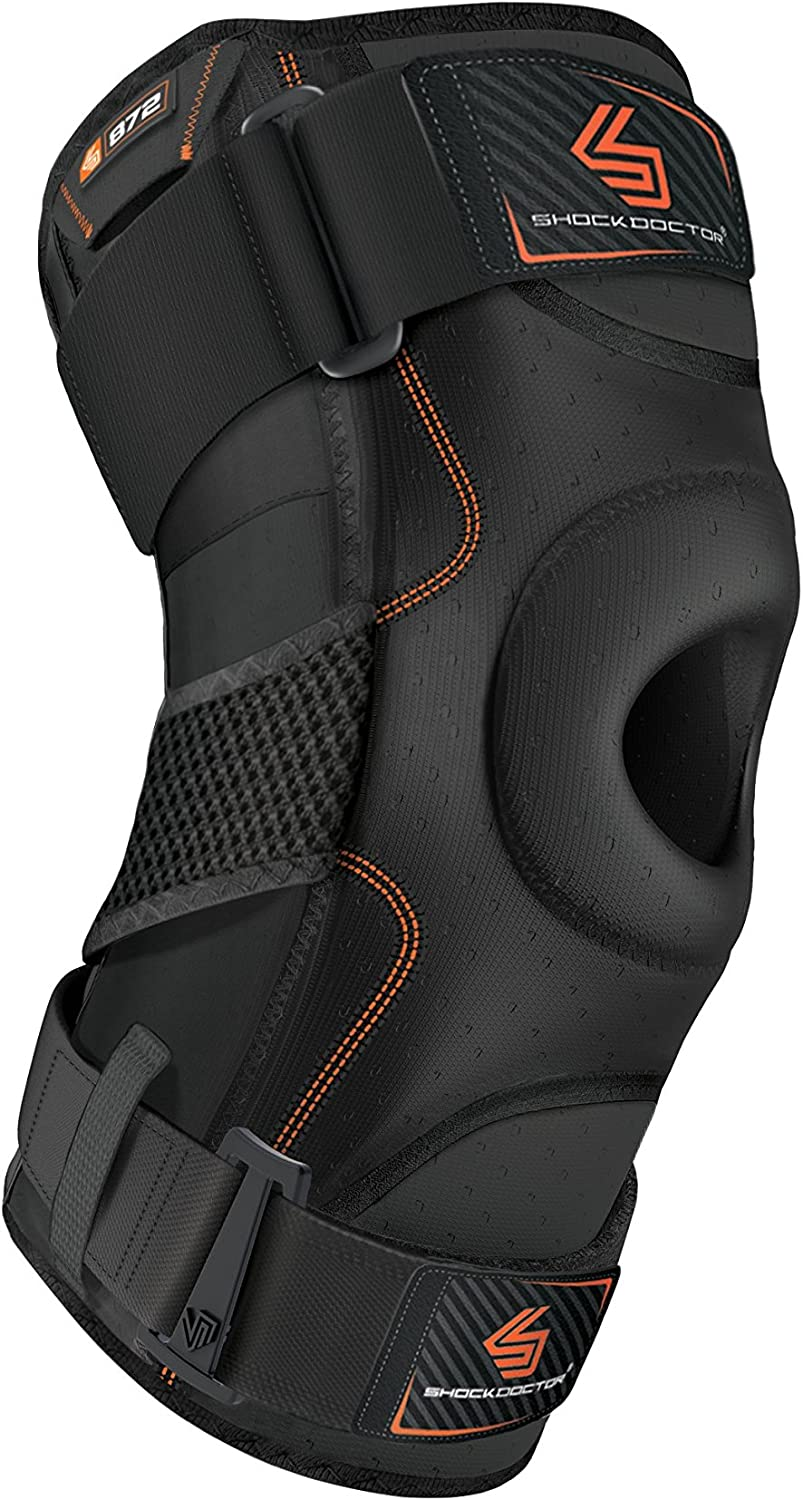 Shock Doctor 872 Knee Brace, Knee Support for Stability, ACL PCL Injuries, Patella Support, Prevent Hyperextension, Meniscus Injuries, Ligament Sprains for Men & Women, Sold as Single Unit (1)