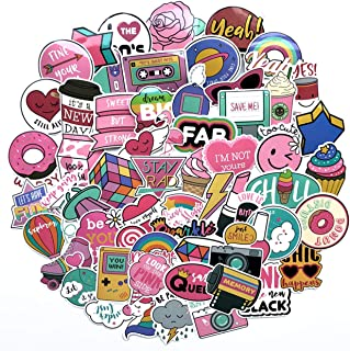 Cute Girl Laptop Stickers, Cartoon Waterproof Vinyl Sticker for Water Bottle Computer Notebook Car Skateboard Motorcycle Bicycle Luggage Guitar Bike Decal 60 Pack (Style - A)