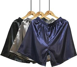 Wantschun Men's Sleepwear Satin Silk Underwear Boxers Shorts Nightwear Pyjamas Bottom Pants