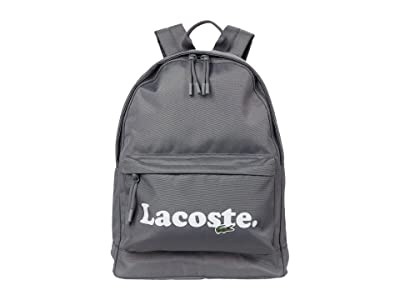 Lacoste Neocroc Backpack (Grey/Navy Blue) Backpack Bags