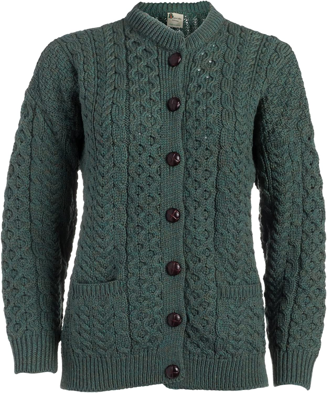 Boyne Valley Knitwear Ladies Merino Wool Lumber Cardigan Sweater