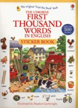 The Usborne First Thousand Words in English : Sticker Book (First Thousand Words Stickr Bk)