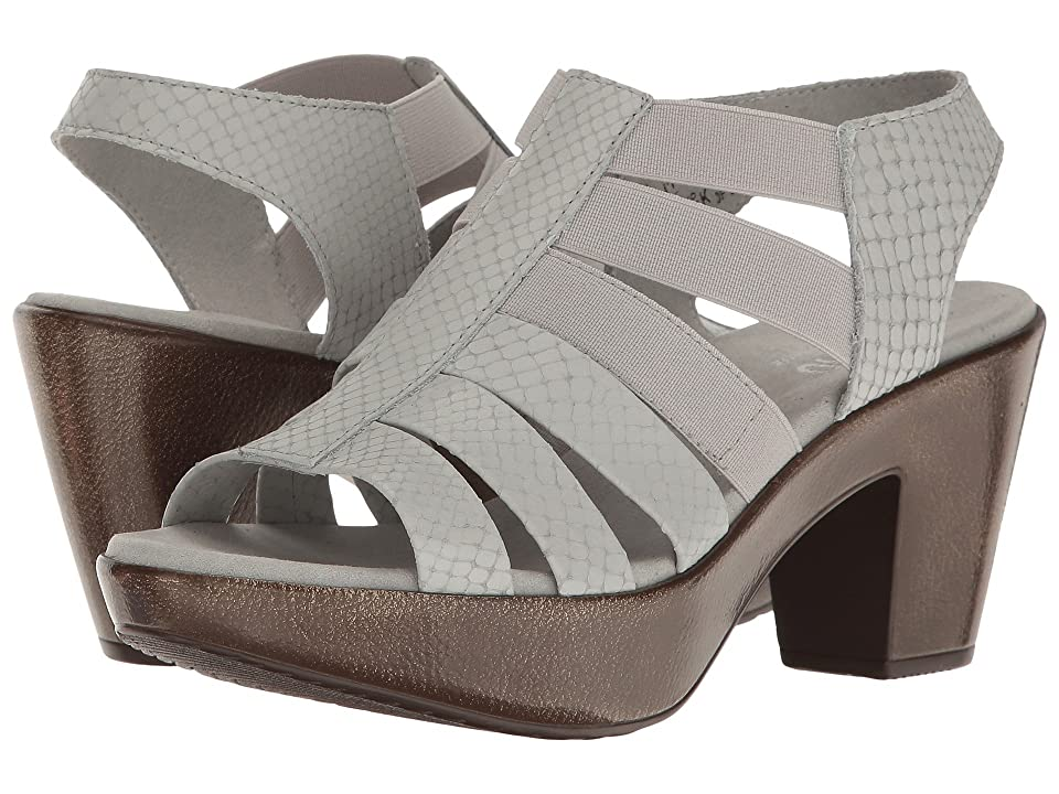 Munro Cookie (Ash Grey Snake Print Leather/Matching Elastic) High Heels