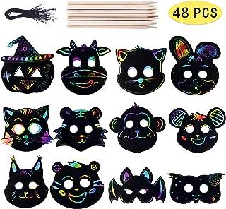 wooden halloween masks