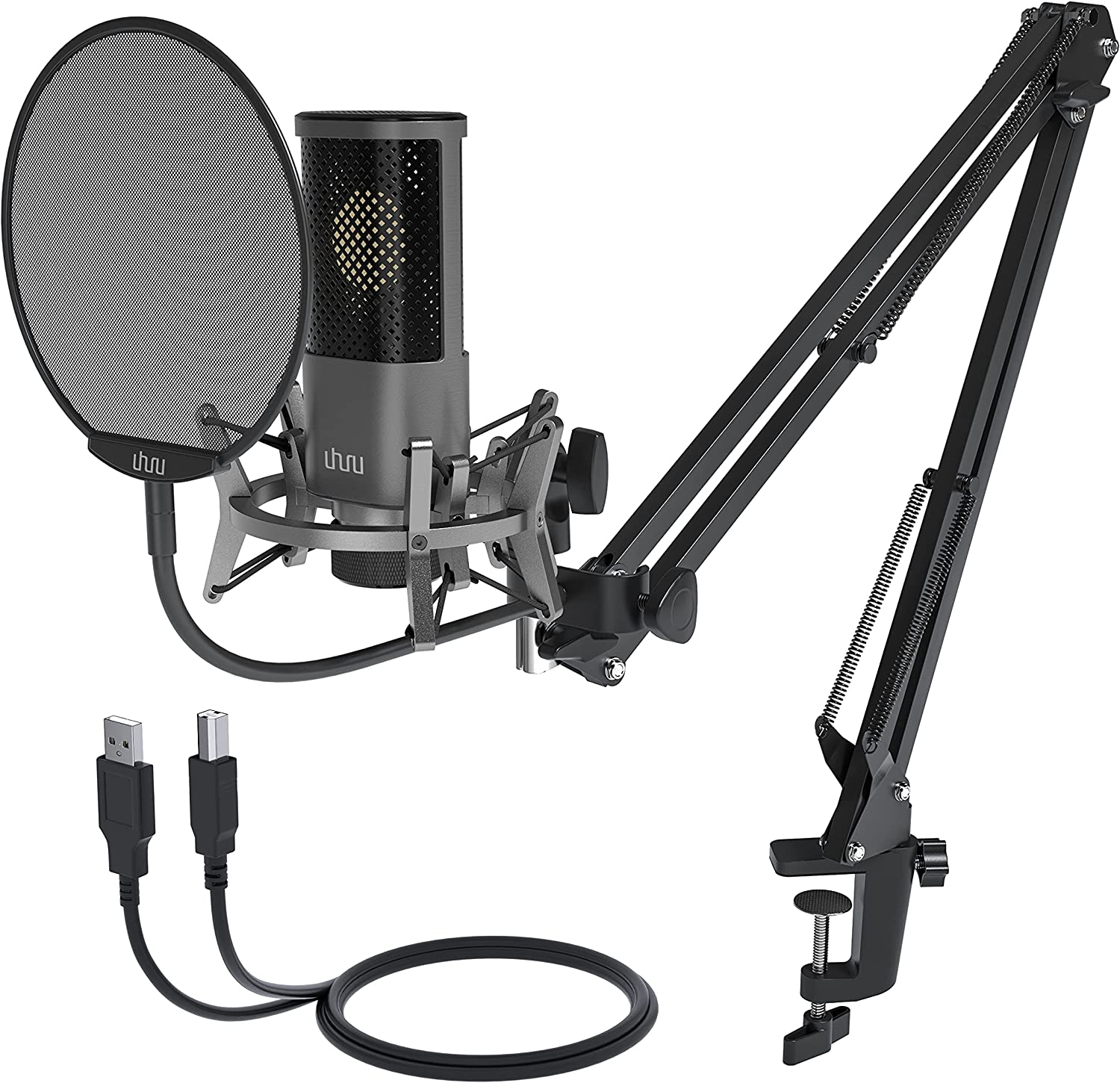 USB Podcast Microphone Max 58% OFF UHURU Streaming with Mic Finally popular brand Condenser S Kit