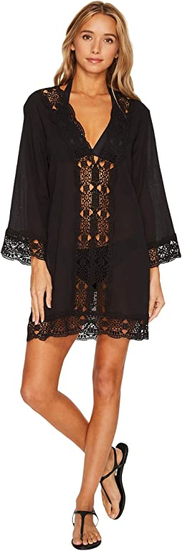 La Blanca Island Fare V-Neck Tunic Cover-Up