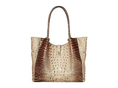 Brahmin Medium Mallory Tote (Latte) Tote Handbags