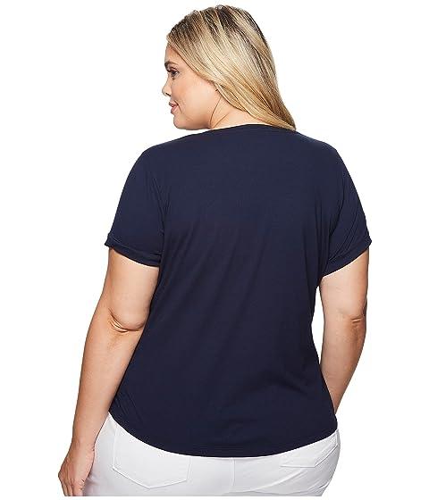 Plus Bullion T LAUREN Patch Cotton Shirt Size Lauren Ralph SzwU1