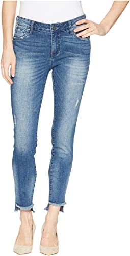 Connie Ankle Skinny w/ Step Fray Hem in Healthful