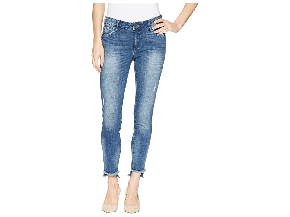 KUT from the Kloth Connie Ankle Skinny w/ Step Fray Hem in Healthful (Healthful) Women