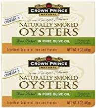 Crown Prince Natural Smoked Oysters In Pure Olive Oil – 3 oz – 3 Pack