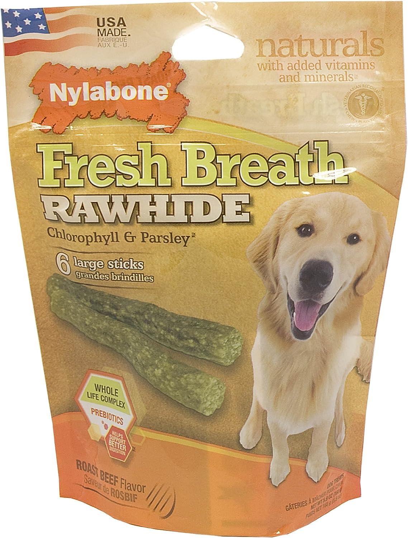 Nylabone Rawhide Small Roast Beef Flavored Dog Mesa Mall Trea Fresh Breath Nashville-Davidson Mall