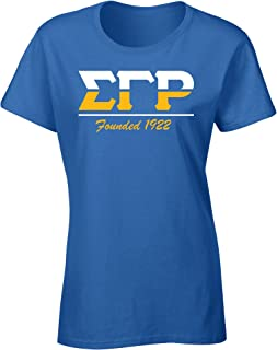 Sigma Gamma Rho Founded 1922 Graphic Print T Shirt