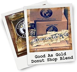 Donut Shop Coffee Pouches, Good As Gold Coffee (40/2.0oz Pre measured coffee packets), Premium 100% Arabica Medium Roast B...