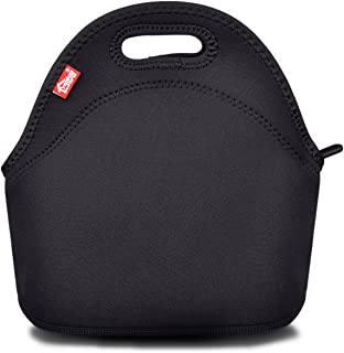 Black Neoprene Lunch Tote, Yookeehome Thick Reusable Insulated Thermal Lunch Bag Small..