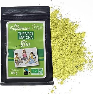 LES PAPOTEUSES | Thé Vert Matcha en poudre | 100g | Thé Vert de Chine | Certifié biologique et Commerce équitable