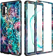 Lamcase for Galaxy Note 10 Plus Case Shockproof Dual Layer Hard PC & Flexible Silicone High Impact Durable Bumper Armor Protective Cover Case for Samsung Galaxy Note 10 Plus/5G, Mandala/Galaxy
