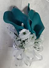 Teal Calla Lily Corsage or Boutonniere