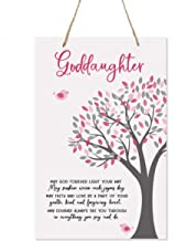"LifeSong Milestones Baptism Christening Modern Rope Tree Sign for Son Daughter Godchild Godson Goddaughter Child First Holy Communion Gift Mother Father Godparents 8""x 12"