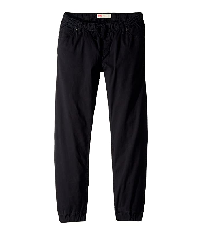 Levis Kids  Twill Joggers (Big Kids) (Black) Boys Clothing