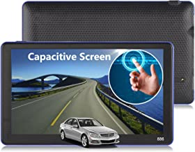 Portable Trucker GPS Navigation for Car Xgody 886 7 Inch with Sun Shade Touch Screen and Lifetime USA/Canada 3D/2D Maps Support Spoken Turn-By-Turn Directions