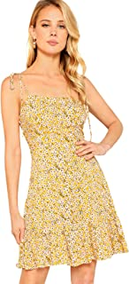 Best yellow floral strappy dress Reviews