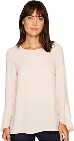 Vince Camuto - Flared Sleeve Crew Neck Blouse