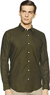 Elements by Peter England Men's Slim fit Casual Shirt