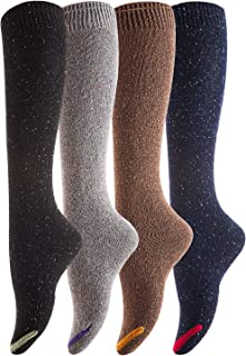 Lovely Annie Women's 4 Pairs Cute Cozy Knee High Cotton...