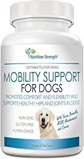 Nutrition Strength Pain Relief for Dogs Supplement, Anti Inflammatory for Dogs in Pain, with Organic Yucca, Boswellia, Meadowsweet, Cornus, Licorice and Ginger, 120 Chewable Tablets