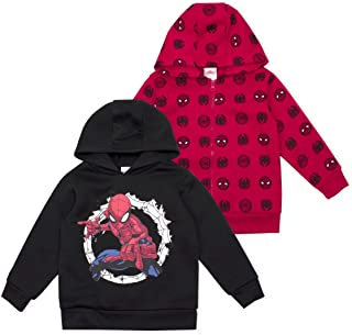 Marvel 2-Pack Spiderman Hoodie Sweatshirts for Boys and Toddlers Apparel
