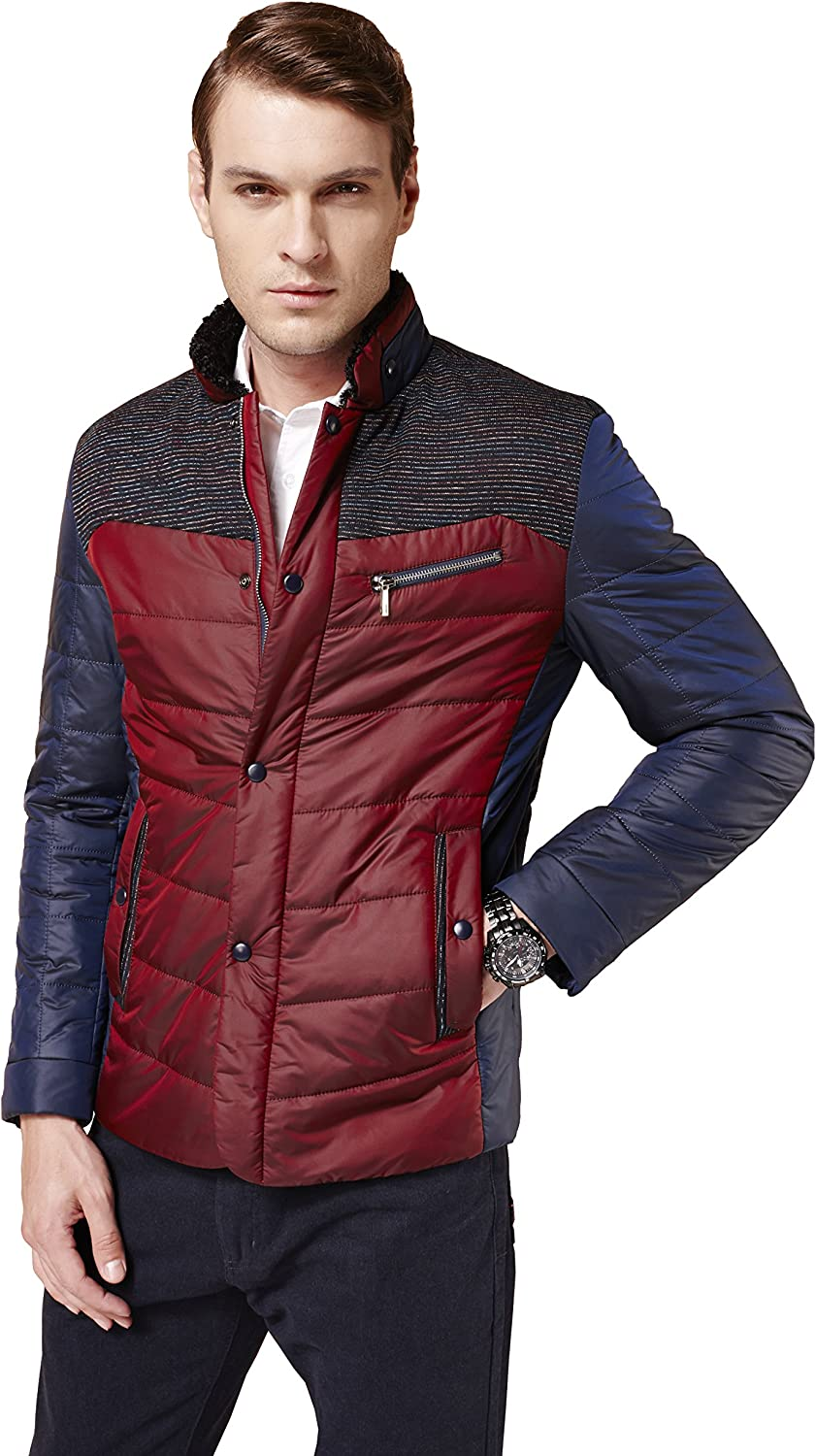 Philadelphia Mall Colorfulworldstore Men's Business Casual Cotton Padded Co Jacket Inexpensive
