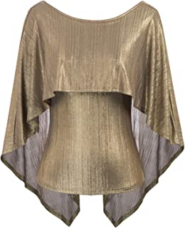 Women's Sexy Backless High Stretchy Irregular Drape Cape Blouse Top