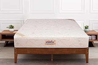 Springtek Ortho Pocket Queen Bed Pocket Spring and High Density Foam Mattress (White, 78x60x6)