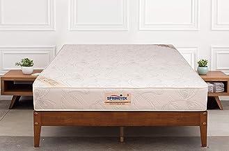 Springtek Ortho Pocket Queen Bed Pocket Spring and High Density Foam Mattress (White, 78x60x6)