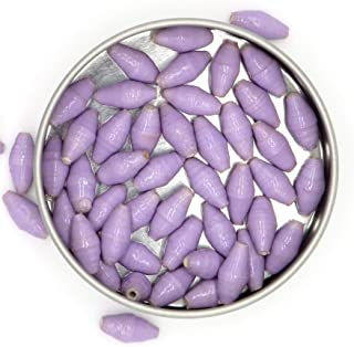 Light Purple Beads - Loose Bead Assortment - Handcrafted Paper Beads - 50 Count - Recycled Magazine Paper Beads