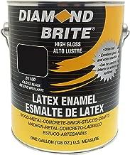 Diamond Brite Paint 80100 1-Gallon Latex Gloss Enamel, Black