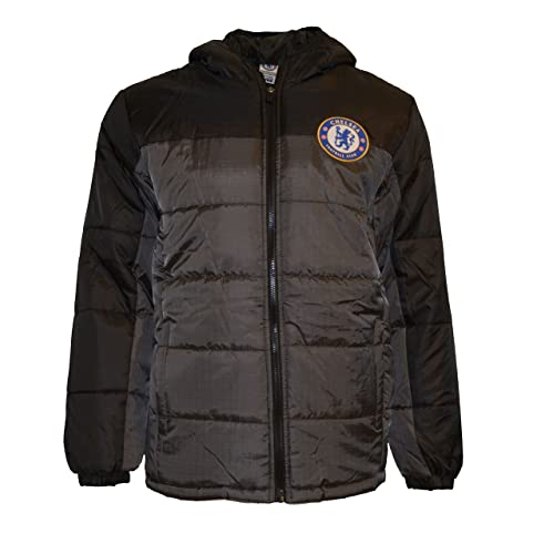 Chelsea Fc Jacket Youth Soccer Light Down Padded Zip up Hoodie 72539e9b0