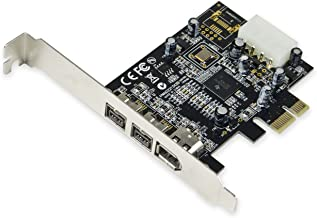Syba SY-PEX30016 3 Port IEEE 1394 Firewire 1394B & 1394A PCIe 1.1 x1 Card TI XIO2213B Chipset Requires Legacy Driver for W...