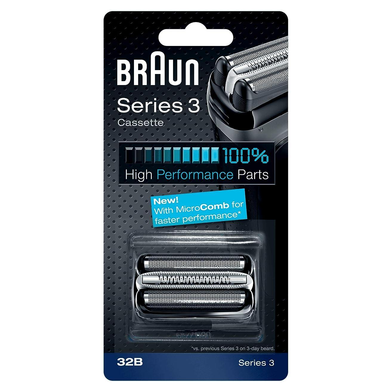 酔う依存する遺棄されたBRAUN 32B Series 3 Shaver Cassette MicroComb交換ヘッドをフォイルカッター& [並行輸入品]