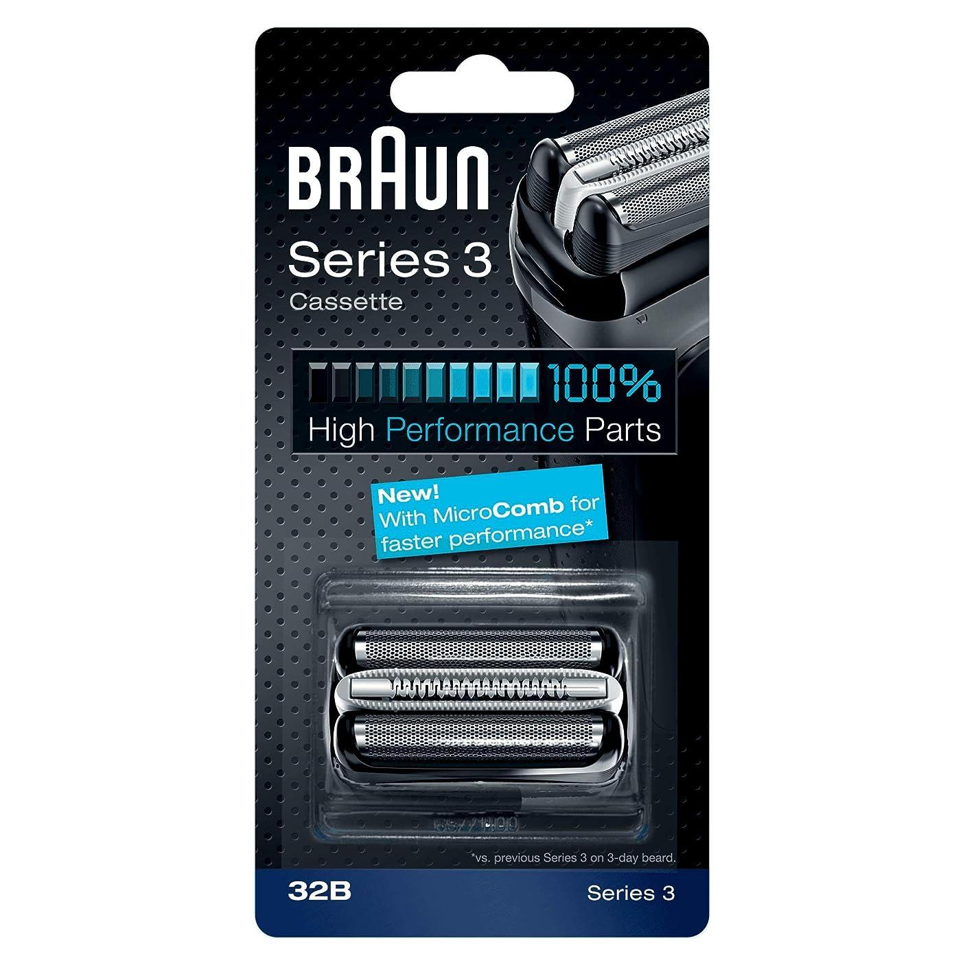 中央ルビーマニアックBRAUN 32B Series 3 Shaver Cassette MicroComb交換ヘッドをフォイルカッター& [並行輸入品]