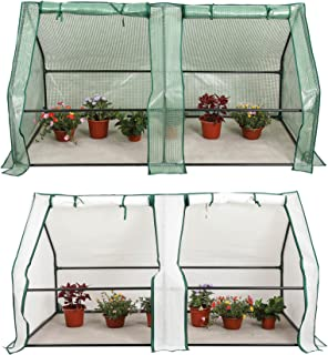 CO-Z Portable Greenhouse Mini Hot House with PE and Non-Woven Cover, Waterproof Cloche Greenhouse and UV Protected Greenhouse Tent, 5.9 x 3.0 x 3.0 Feet.