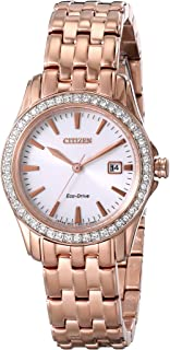 Citizen Women's Eco-Drive Crystal Accented Watch with Date, EW1903-52A
