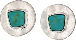 The Sak - Large Stone Clip-On Earrings