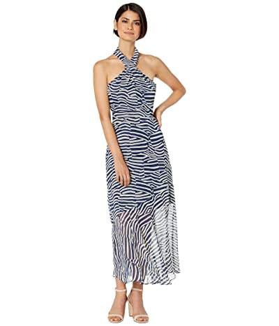 Sam Edelman Stripe Graphic Maxi Dress (Navy/Ivory) Women